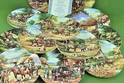 Wedgwood  Collector's Plates: Country Days 16 Collector's Plates Bone China