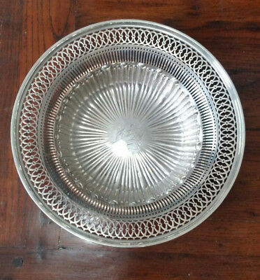 "Antique Watson & Newell Co STERLING SILVER 10.5"" Pierced Bowl  299.5g"