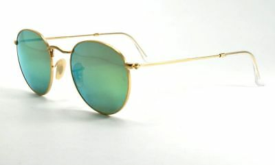 d8219381fb Ray Ban Round Metal Sunglasses RB3447 112 P9 Gold Green Flash Polarized Lens