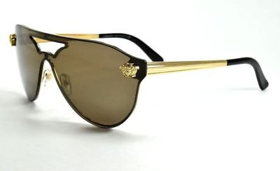 Versace Sunglasses 2161 1002/f9 Gold W/ Brown Lenses