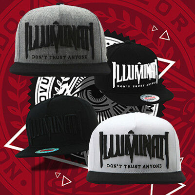 8484_ Mens Womens Boys Illuminati Eye Premier Baseball Cap Hiphop Snapback Hats