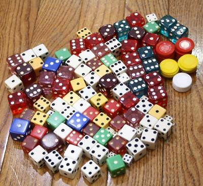 Cool Vintage 130 Misc Lot Of Dice & Chips $7.99 S/H