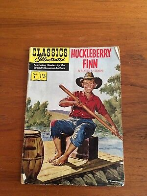 CLASSICS ILLUSTRATED COMIC No 01 1'3 Huckleberry Finn by Samuel L. Clemens