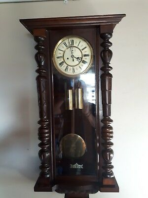 antique vienna wall clock twin weight with chimes