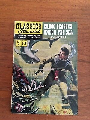 CLASSICS ILLUSTRATED COMIC no.02 - 20,000 Leagues under the sea by Jules Verne