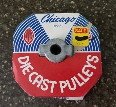 """Chicago Die Cast Single V Groove Pulley A Belt 4"""" OD X 1/2"""" Bore 400A5"""