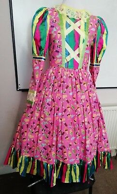 """pantomime dame 34"""" chest. Calf length. New, unused. Fully lined."""