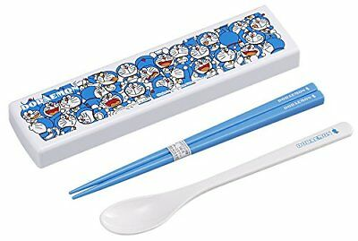 OSK CT-27 Doraemon (NO2) Chopsticks And Spoon Set With Case Cutlery Multi Color