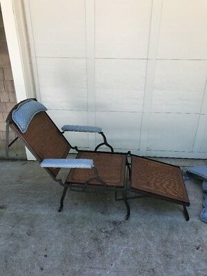 Marks A.F. New York Campaign Chair/ Lounge Chair Victorian Folding Mechanical
