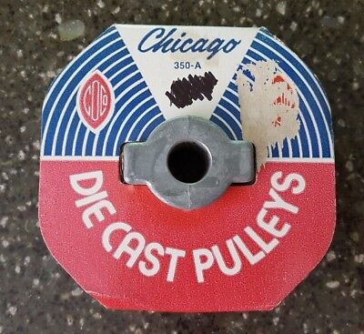 "Chicago Die Cast Single V Groove Pulley A Belt 3 1//2/"" OD X 1//2/"" Bore 350A5"