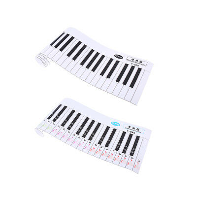 2 Version 88 Key Removable Piano Practice Sticker for Piano Learn