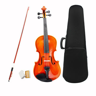 PROFESSIONAL BEGINNER 1/2 Size NATURAL VIOLIN FIDDLE SET FOR KIDS 8~10 O6O8