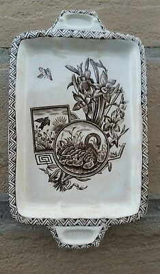 "Challinor & Mayer Wolseley Pattern Butter Dish? 9"" x  5 1/4"" Made in England"