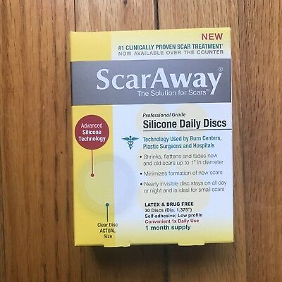 ScarAway Professional Grade Silicone Daily Discs, 30 count - Scar Away 01/2020+