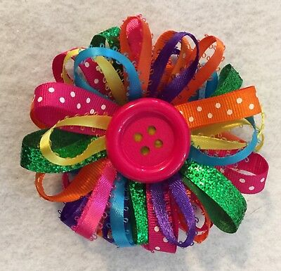 "3"" Colorful Hand Made Hair Bow"