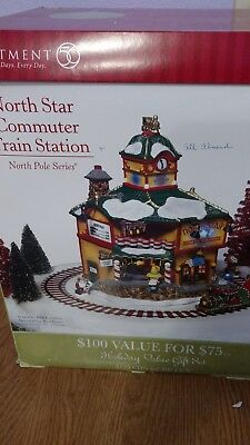 New Dept 56 North Pole Series North Star Commuter Station
