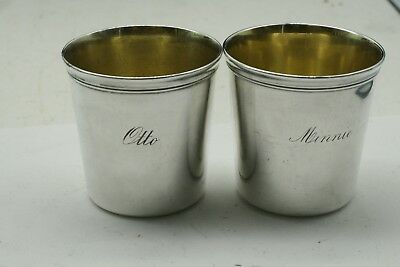 ANTIQUE French Christofle  Silver Plated 2 Cups