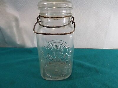 Vintage Opler Brothers Glass Jar Cocoa and Chocolates # 6