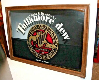 Tullamore Dew Irish Whiskey Whisky Mirror Sign Bar Man Cave
