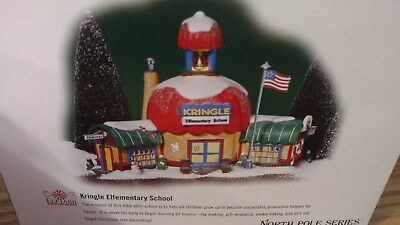 NEW Department 56 North Pole Series Kringle Elementary School and accessory