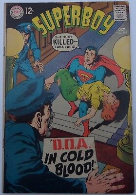 SUPERBOY #151 Oct.1968 Fine- condition Superboy KILLS Lana Lang? Neal Adams cvr