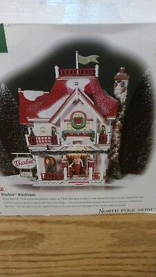 Dept 56 BARBIE BOUTIQUE #56.56739 Lighted Building North Pole Series