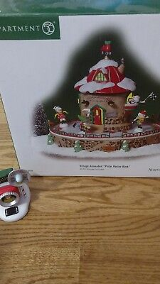 Department 56 North Pole Series animated Polar Roller Rink and accessory