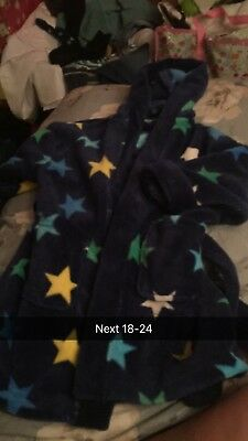 Boys next navy with stars dressing gown 18-24 months
