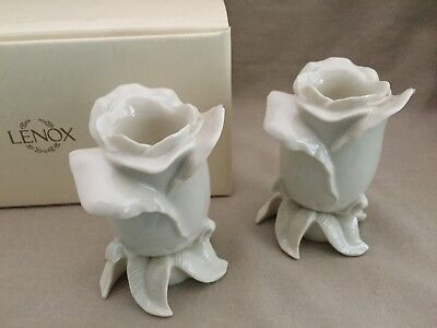 Lenox Floral Gallery Rose Candlestick Holders (Pair)