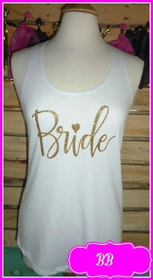 NEW size XXL misses white gold bride tank top bachelorette tank top bride to be