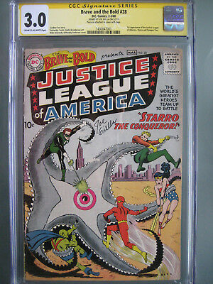 Brave and the Bold #28 CGC 3.0 SS **Signed Joe Giella** 1st Justice League