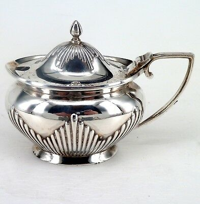Silver Mustard Pot 1915 Hallmarked Sterling By Barker Brothers Chester