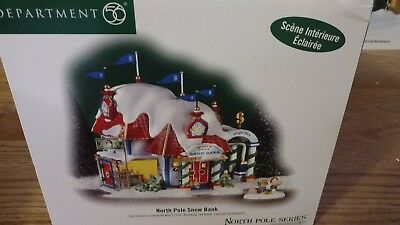 Department 56 North Pole Snow Bank & accessory