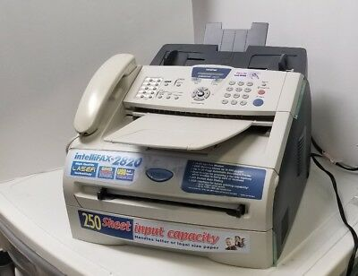 Brother Intellifax FAX-2820 Laser Printer Fax Machine Phone System TESTED