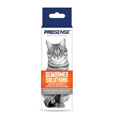 Pro·Sense CATS LIQUID DEWORMER SOLUTIONS • ROUNDWORM TREATMENT & CONTROL Kittens