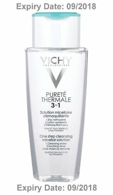 Vichy Normaderm 3 in 1 Micellar Water Solution 200ml Sensitive Skin - EXP 9/18
