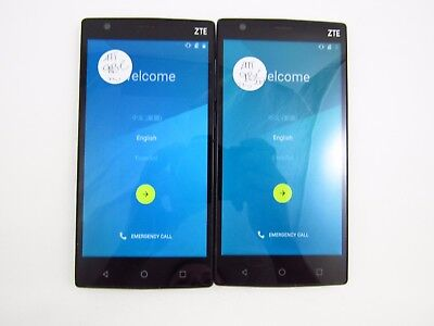 Lot of 2 Google Locked ZTE Max 2 Z958 ATT Check IMEI GL 3-490