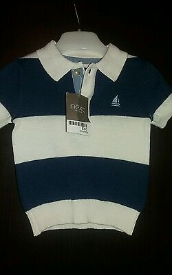 Next knitted polo shirt 3-6 months