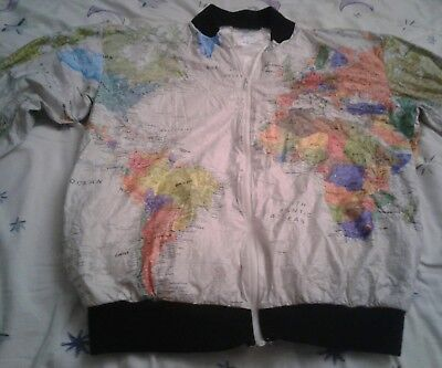 Vintage Wearin The World Map Jacket Expedition  size 38 Zip Up 1980s