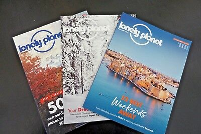 Lonely Planet Travel Magazine 3 issues December 2017 January & February 2018