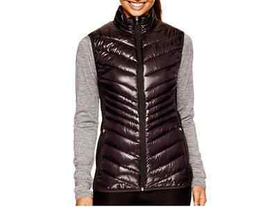 NWT Xersion Women's Quilted Puffer Vest Black Size XS S M