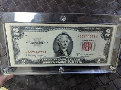 1953-C $2 Red Seal Us Note **star Note** Hi Grade