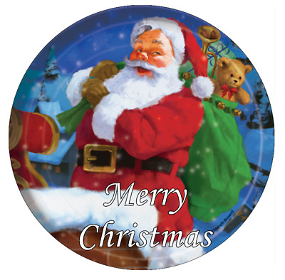 """Santa Father Christmas Personalised Cake Topper Edible 7.5"""" Wafer Cake Toppers"""