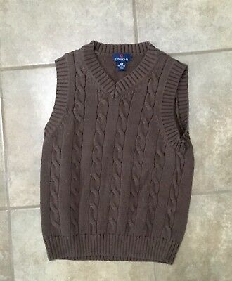 Boys Brown Sweater Vest, Size 6/7
