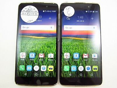 Lot of 2 Alcatel Idol 4 6055U Cricket Check IMEI Grade C 5-1337