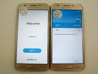 Lot of 2 Google Locked Samsung Galaxy Sol 2 J326AZ Cricket Check IMEI 5GL 1434