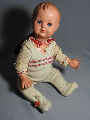 Vintage Kader Ok Hong Kong 1950's - 60's Baby Doll Celluloid Plastic Sleep Eyes