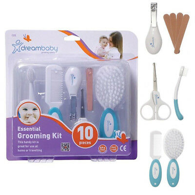 Dreambaby 10 Essential Grooming Kit Baby Comb Brush Nail Clippers Scissors Case