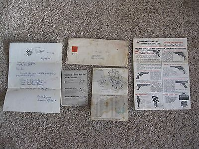 1968 CROSMAN Arms Co., Inc. Pamphlet & Air Rifle Model 140 Parts List + Letter