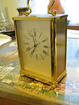 Hamilton Solid Brass Carriage Clock- Quartz